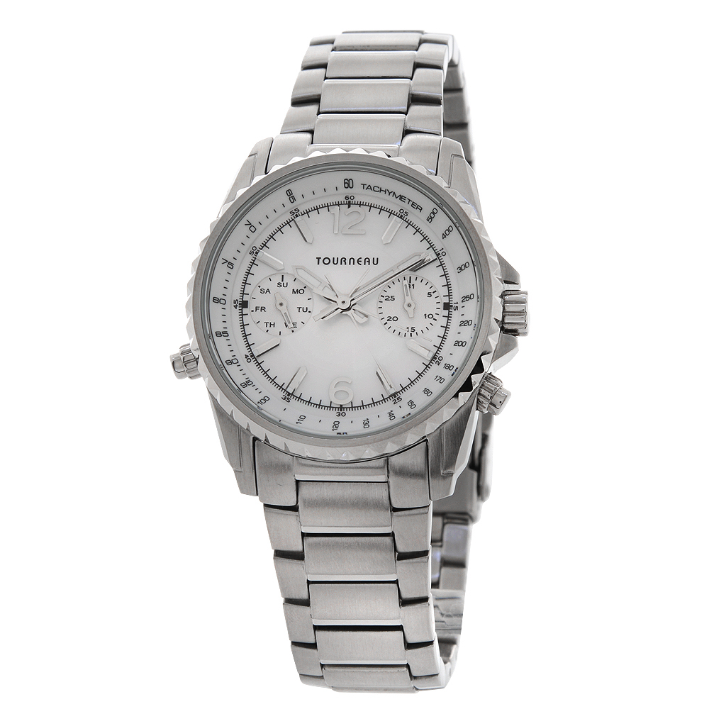 tourneau for acura stainless steel chronograph