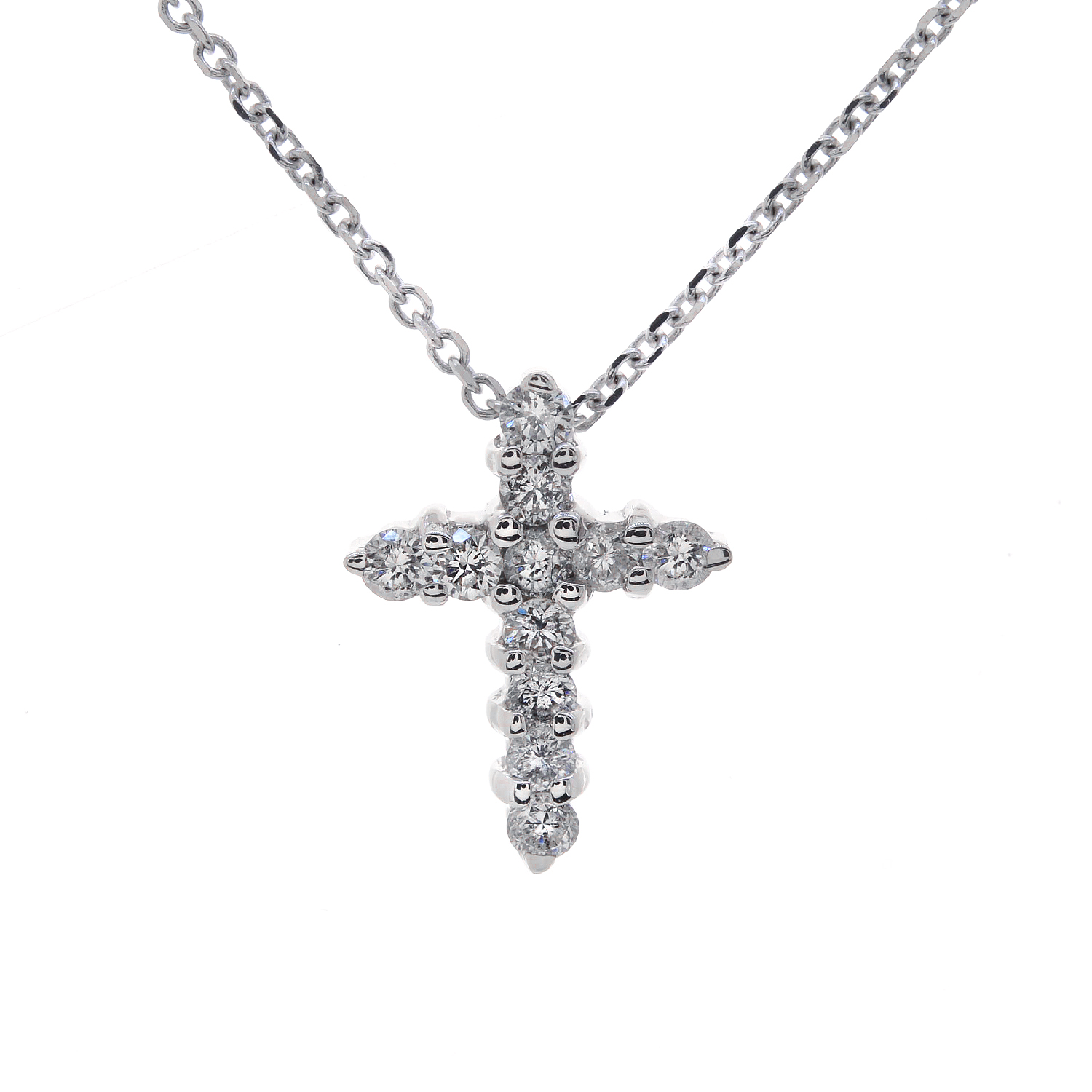 carat children 39 s round cut diamond cross pendant. Black Bedroom Furniture Sets. Home Design Ideas