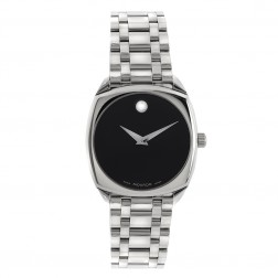 Movado Museum Cushion Men's Watch in Stainless Steel 84 F4 1342