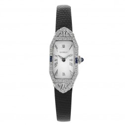 Vintage Gianello with Diamonds and Sapphires on Bezel Platinum Ladies Watch