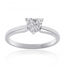 0.45 Carat Heart Shape Diamond Engagement Ring Solitaire 14k Gold