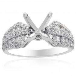0.88 Carat Diamond Engagement 18K White Gold Setting