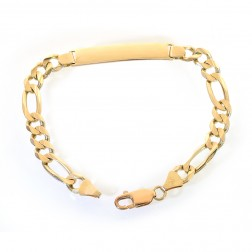 8.0mm 14K Yellow Gold ID Bracelet Italy