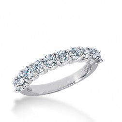 1.05ct Ladies U-Prong 14k White Gold Diamond Wedding Band
