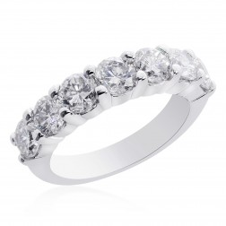 14K White Gold Round Brilliand Diamond Wedding Ring 2.00 ctw