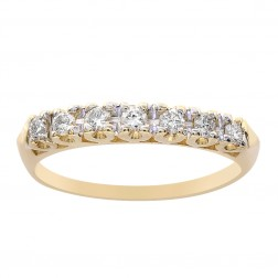 0.30 Carat Diamond Wedding Band 14K Yellow Gold Ring
