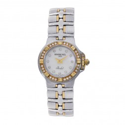 Raymond Weil Parsifal Mini Diamond MOP 18K Two Tone Watch 9690/1