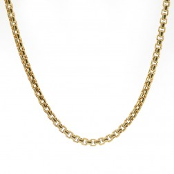 """Mens 14K Yellow Gold Chain 16"""" inches Round Box Necklace Link 10.2 grams"""