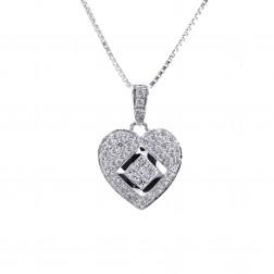 0.75 Carat Fancy Diamond 14K Gold Heart Pendant