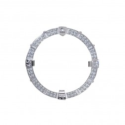 2 Carat Diamond Bezel for Breitling Super Avenger A13370 Stainless Steel 48.4 mm