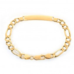 8.1mm 14K Yellow Gold ID Bracelet Italy