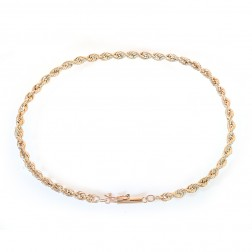 14K Yellow Gold Rope Chain Bracelet