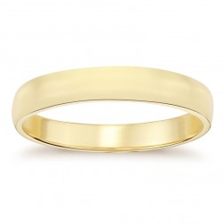 6.1mm14K Yellow Gold Men's Wedding Band