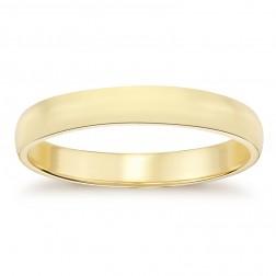 5.3mm14K Yellow Gold Men's Wedding Band