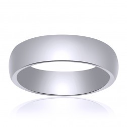 5.0mm 14K White Gold Comfort Fit Band