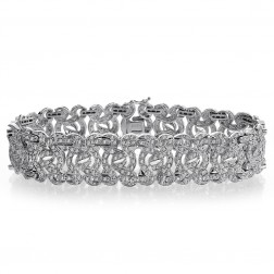 4.50 Carat G-SI1 Round Brilliant Cut Diamond Sundance Bracelet 14K White Gold