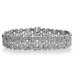4.50 Carat G-SI1 Round Brilliant Cut Diamond Sundance Bracelet 14K White Gold
