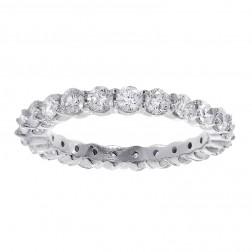 1.65 carat Round Cut Diamond Eternity Band 14k White Gold