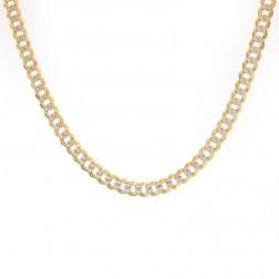 """Mens 14K Yellow Gold Cuban/Curb Diamond Cut Chain 20"""" Inches 24.2 Grams"""