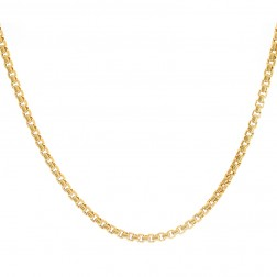 "Mens 14K Yellow Gold Chain 24"" inches Round Box Necklace Link 14.6 grams"