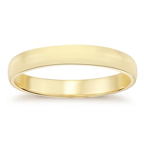 4.7mm 14K Yellow Gold Men's Wedding Band