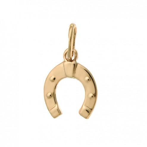 14K Rose Gold Horseshoe Lucky Charm 0.8 grams