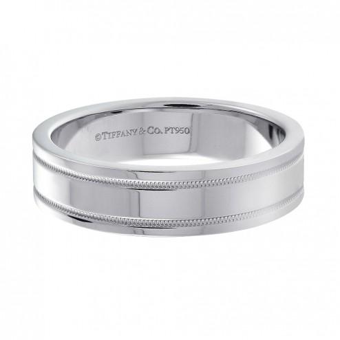 Tiffany & Co. 950 Platinum Wedding Band Ring 6.1 mm
