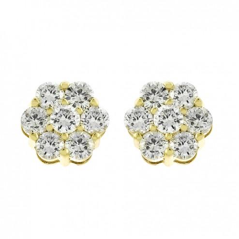 1-85-carat-round-brilliant-cut-diamond-flower-stud-earrings-in-14k-yellow-gold