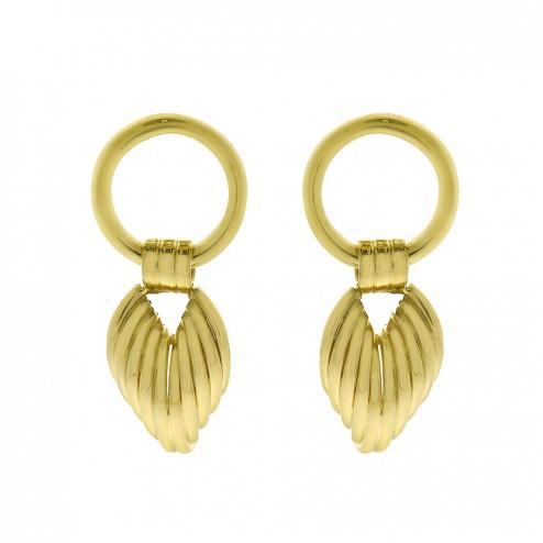 14K Yellow Gold Dangle Earrings 5.8 Grams