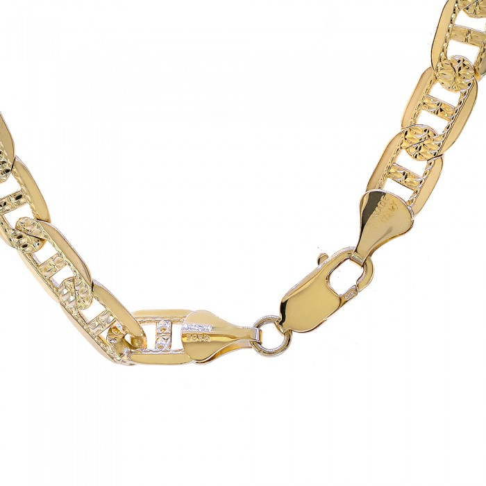 a212289f44327 14K Yellow Gold 24 Inch Diamond Cut Gucci Link Chain 59.5 Grams ...