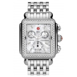 Michele Deco Diamond Classic in Stainless Steel MOP Dial MWW06A000028