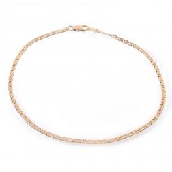 14K Yellow Gold Tiger Eye Link Chain Ankle Bracelet
