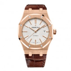 Audemars Piguet Royal Oak 18K Rose Gold Watch Silver Dial 15400OR.OO.D088CR.01