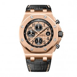 Audemars Piguet Royal Oak Offshore Chronograph 18K Rose Gold Watch 26470OR