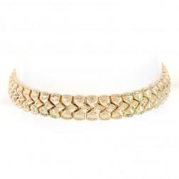 9.0mm 14K Yellow Gold Fancy Link Bracelet