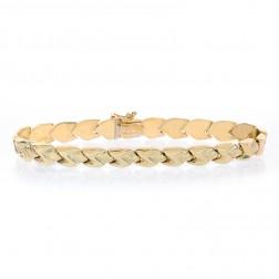 6.8mm 14K Yellow Gold Fancy Z Link Bracelet