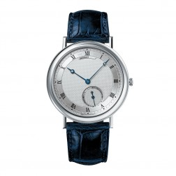 Breguet Classique 18K White Gold Watch on Blue Leather Strap 5140BB/12/9W6