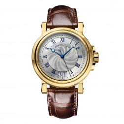 Breguet Marine 18K Yellow Gold Watch on Leather Strap 5817BA/12/9V8