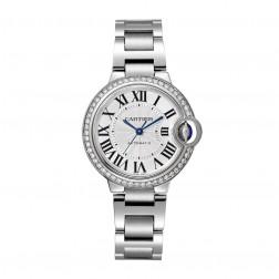 Cartier Ballon Bleu de Cartier Stainless Steel 33mm Watch Diamond Bezel W4BB0016
