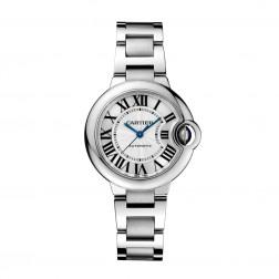 Cartier Ballon Bleu de Cartier Stainless Steel 33mm Watch on Bracelet W6920071
