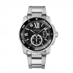 Cartier Calibre de Cartier Stainless Steel Watch on Bracelet W7100057