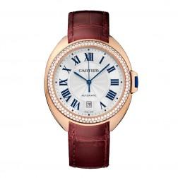 Cartier Clé de Cartier 18K Rose Gold Ladies Watch Diamond Bezel WJCL0012