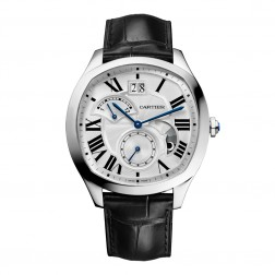Cartier Drive de Cartier Retrograde Second Time Zone Steel Watch WSNM0005