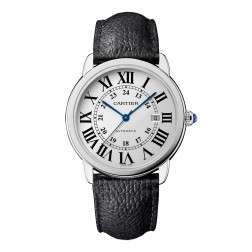 Cartier Ronde Solo de Cartier Stainless Steel Watch on Strap WSRN0022
