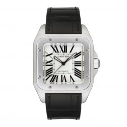 Cartier Santos 100 Stainless Steel Watch Large Size W20073X8