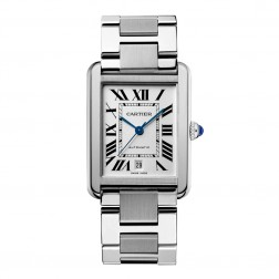Cartier Tank Solo Stainless Steel Large Size Watch on Bracelet W5200028