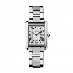 Cartier Tank Solo Small Size Stainless Steel Watch on Bracelet W5200013