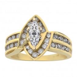 1.15 Carat Diamond Engagement Ring 14K Yellow Gold
