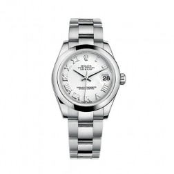 Rolex Datejust 31 Stainless Steel Watch White Roman Dial 178240