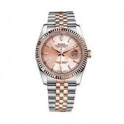 Rolex Datejust 36 Steel & 18K Everose Gold Watch Pink Index Dial 116231